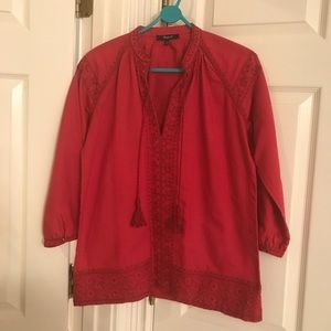 Madewell Tunic blouse XXS red
